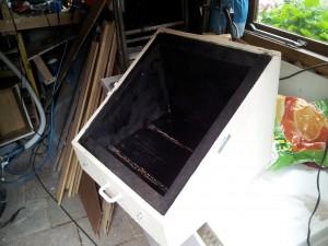Solar over met zwarte binnenkant